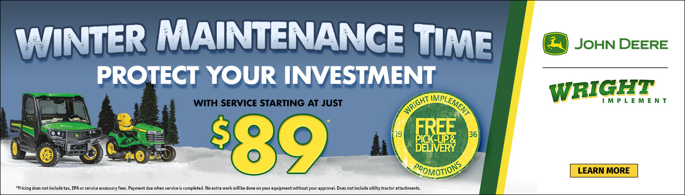 Winter Maintenance Time with service starting at $89